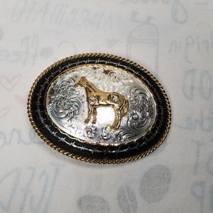 Montana Silversmiths Western Horse Belt Buckle